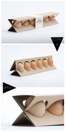 Мінімалізм при пакуванні харчових яєць